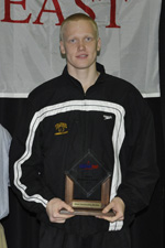 Johan Rohtla was named Most Outstanding Rookie at the 2011 America East Championships.