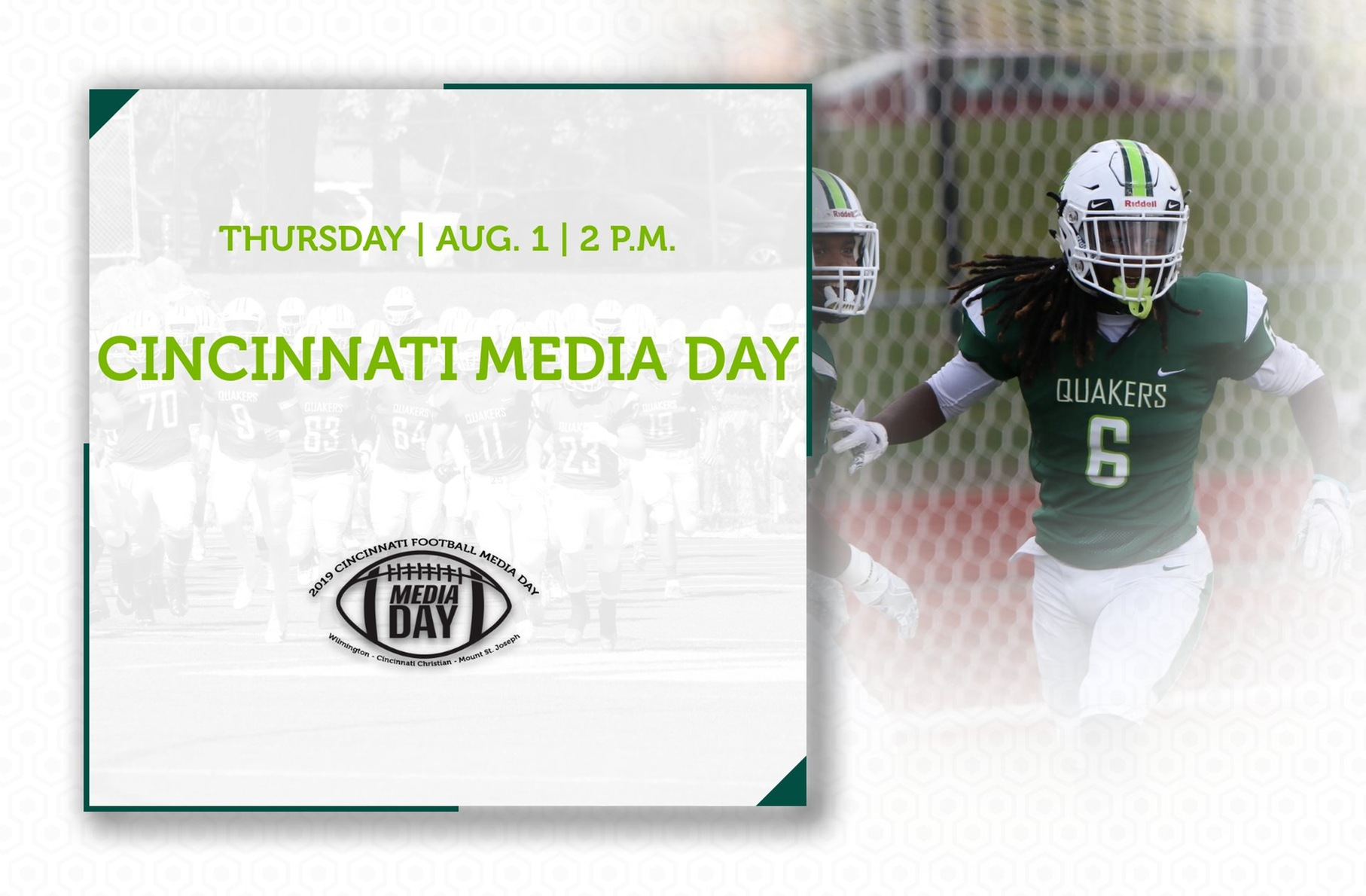 Football to Attend Cincinnati Media Day for Third Consecutive Year