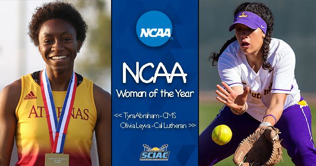 Abraham, Leyva Named SCIAC NCAA Woman of the Year Nominees