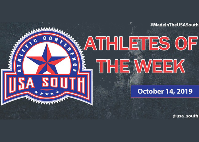 Porter and Harvey recognized as USA South Athletes of the Week