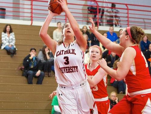Four Lady Cardinals Notch Double-Figures in 62-55 Win Over Goucher
