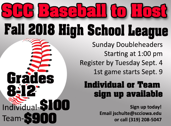 Baseball to Host Fall High School League