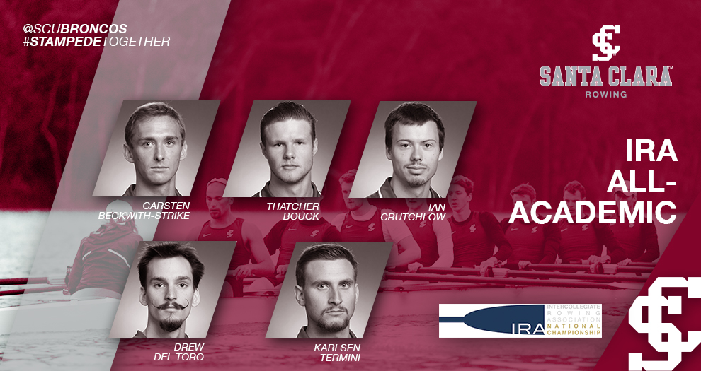 Five Honored on IRA All-Academic Team for Men's Rowing