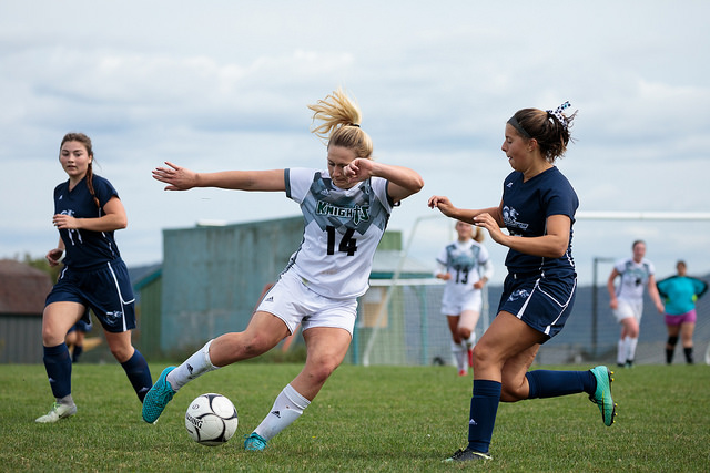 Women's soccer takes first win of the season