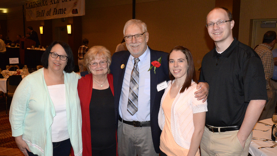 Photo for Flentje inducted into Lakeshore Hall of Fame