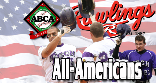 Kirby-Jones and Oberacker selected 1st and 2nd team All-America by the American Baseball Coaches Association/Rawlings