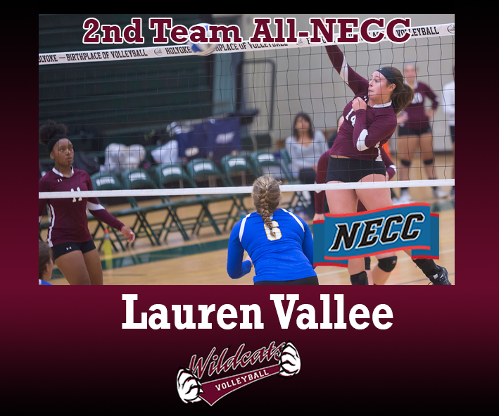 Vallee selected to 2nd Team All-NECC in volleyball