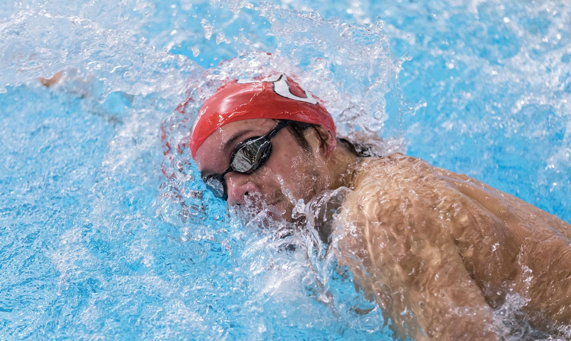 WPI Claims NEWMAC Meet with Men's Swimming and Diving