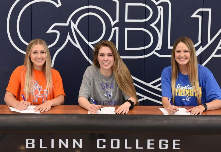 Three Blinn College Volleyball Players Sign With Four-Year Universities