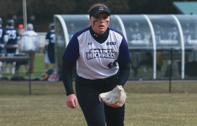 Softball Caps Season Series at Nationally-Regarded Merrimack with 5-3 Loss