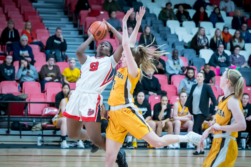 Faith Hezekiah had another double-double as the Wesmen beat the Bisons Saturday, Feb. 2, 2019. (Kelly Morton/Wesmen Athletics file)