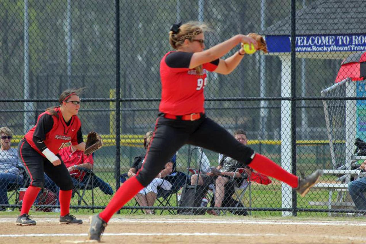 Huntingdon softball wins twice on Day 1 of USA South Tournament