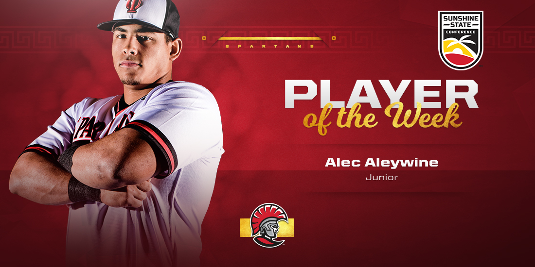 Alec Aleywine Earns SSC Player of Week Honors