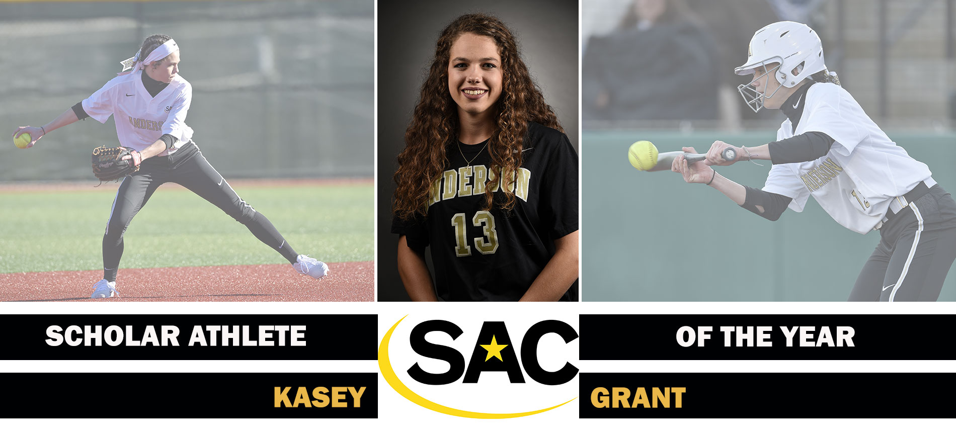 Grant Named South Atlantic Conference Softball Scholar-Athlete of the Year