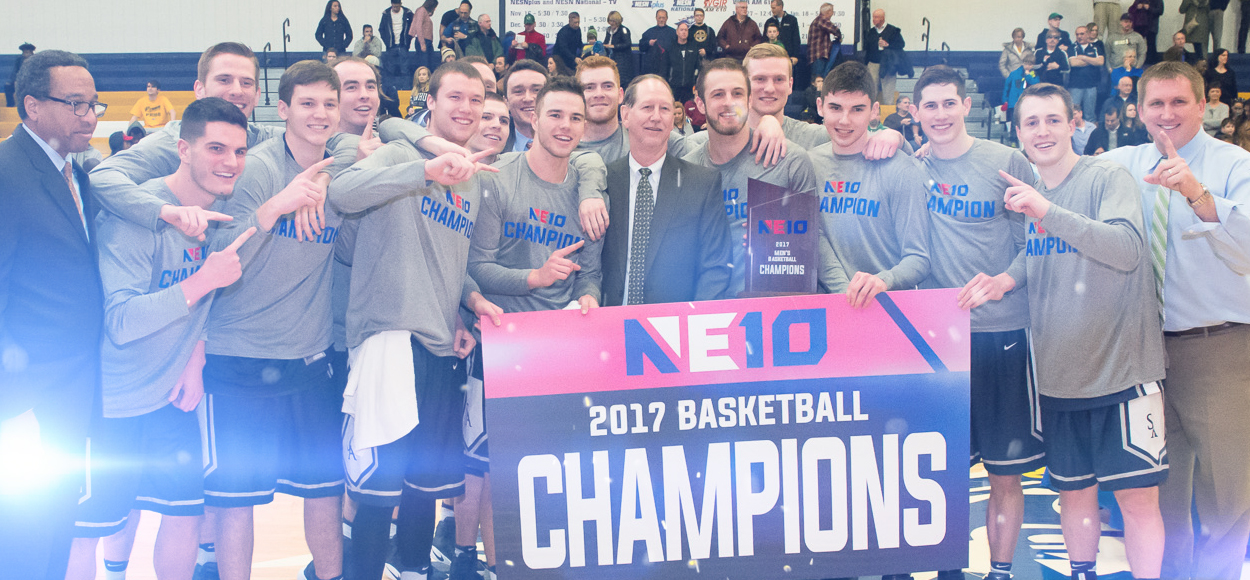 Saint Anselm Soars to 2017 NE10 Men's Basketball Title in Front of Capacity Crowd, Television Audience