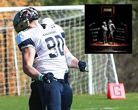 Gallaudet University football standout Adham Talaat named a finalist for Gagliardi Trophy