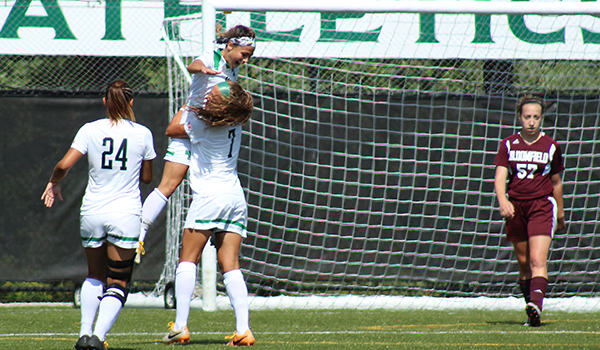 Loran Wyrough Ties Record as Wilmington Women's Soccer Runs Away from Bloomfield, 6-2, on Homecoming