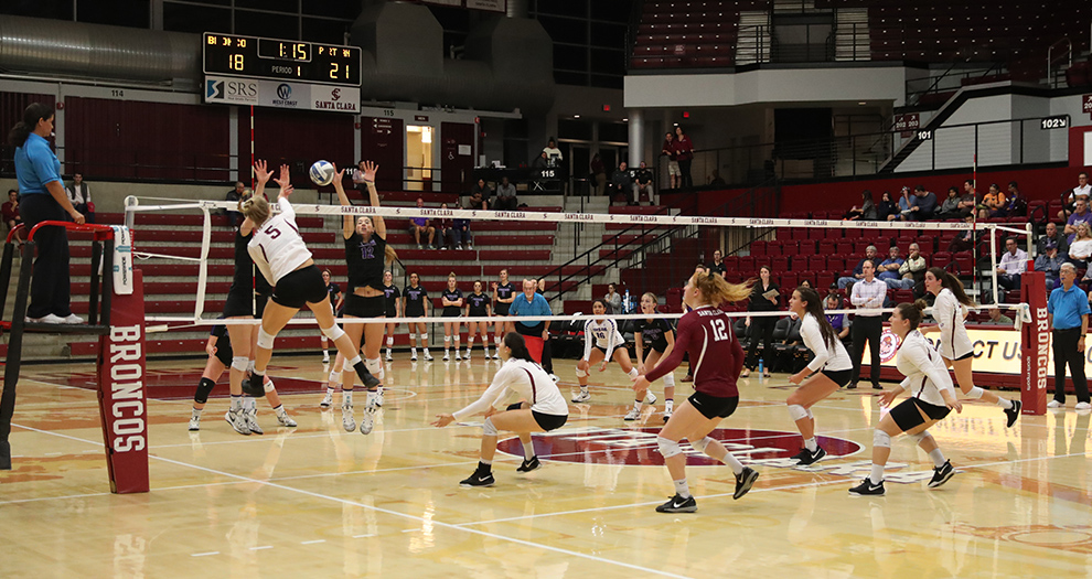 Santa Clara plays three of its final four matches this season on the road.