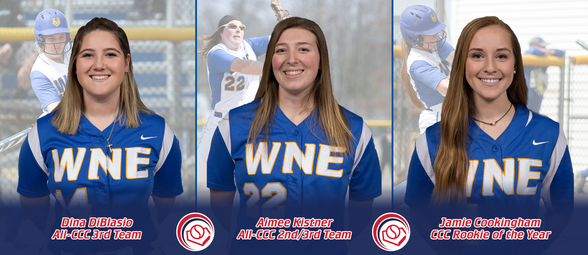 Cookingham Named CCC Rookie of the Year, Kistner & DiBlasio Earn All-CCC Accolades