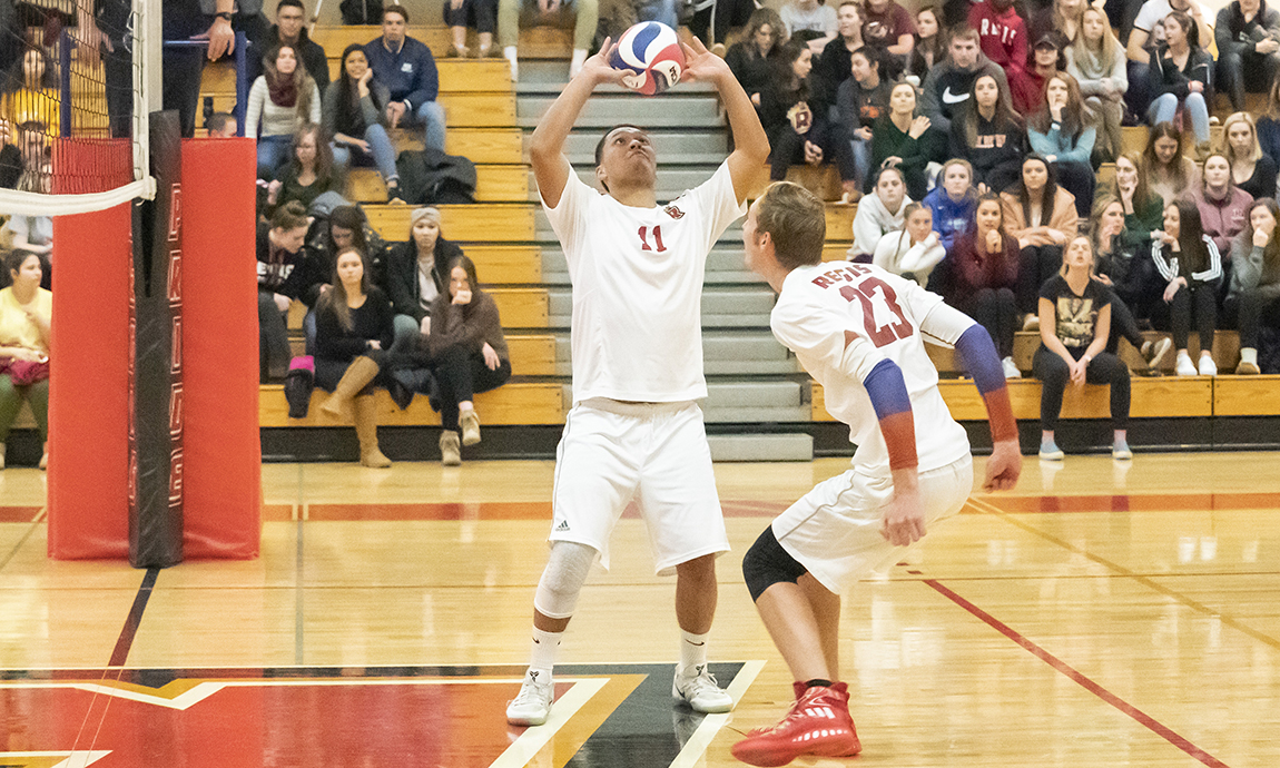 Regis Men's Volleyball Loses to Conference Foes