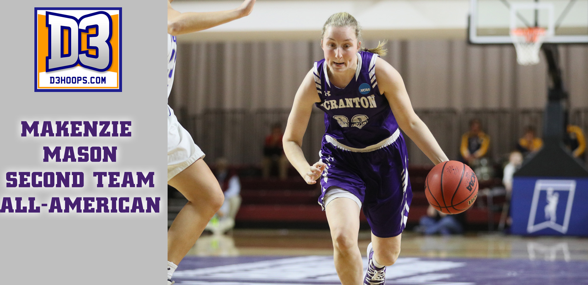 Junior guard Makenzie Mason was named Second Team All-American by D3hoops.com on Saturday night.