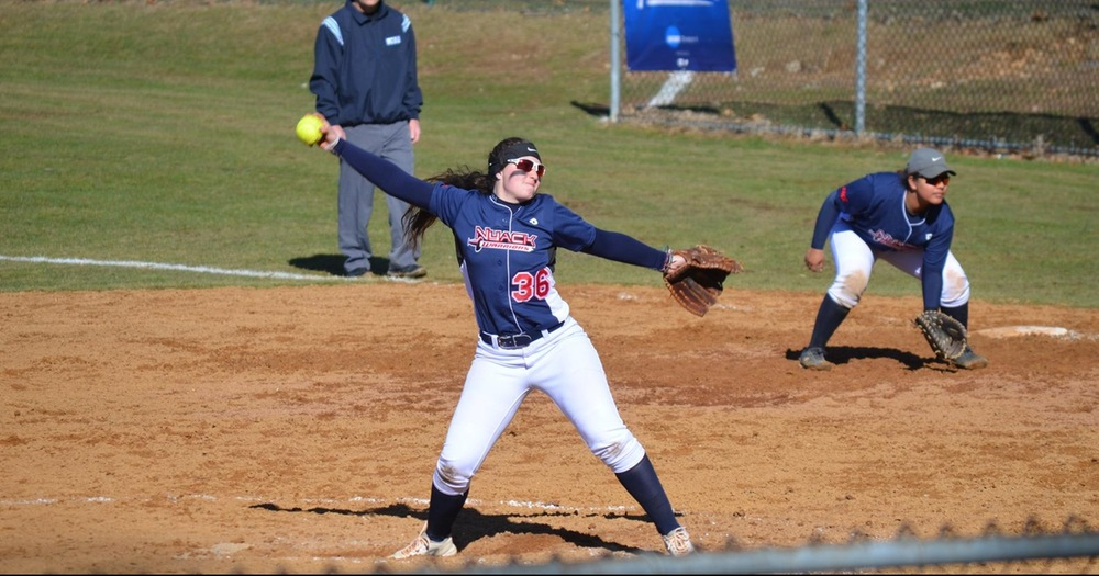 Softball upended by Georgian Court Lions in CACC Doubleheader