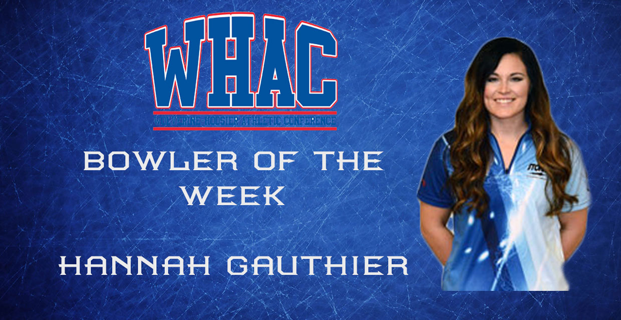 Photo for GAUTHIER NAMED WHAC BOWLER OF THE WEEK