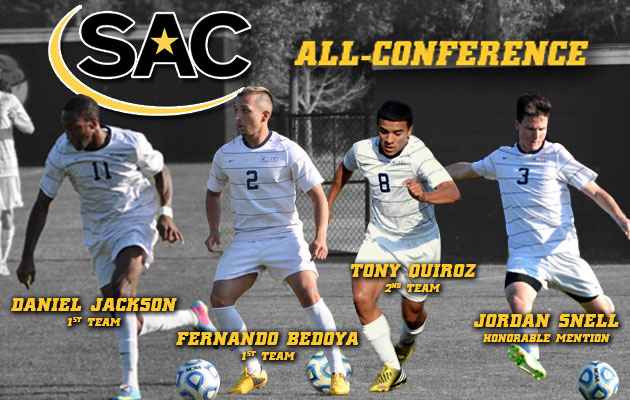 Four Men's Soccer Players Named All-Conference