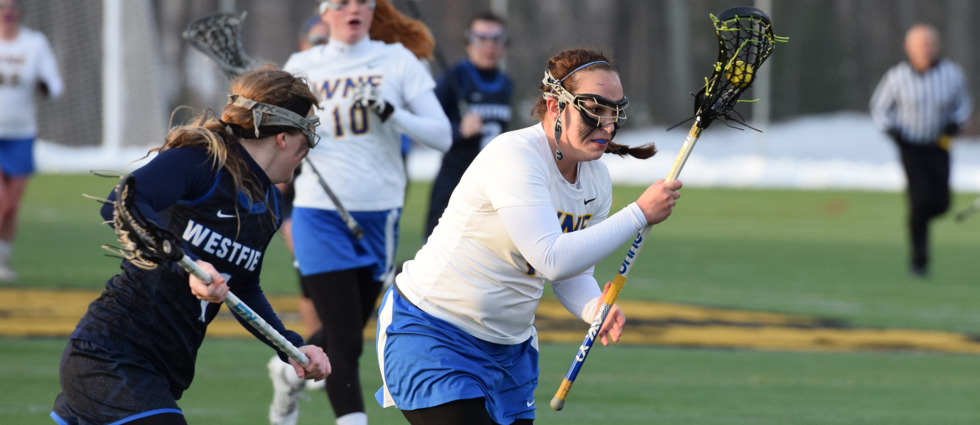 Sophomore Olivia Truenow scored her first career goal and added two assists in Western New England's 16-5 loss to Westfield State on Friday. (Photo by Rachael Margossian)