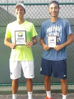 (L-R) Sasha Krasnov and Aleks Trifunovic played in the conference singles championship match