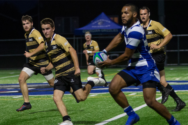 GRIZZLIES MEN'S RUGBY WINS HOME OPENER IN IMPRESSIVE STYLE