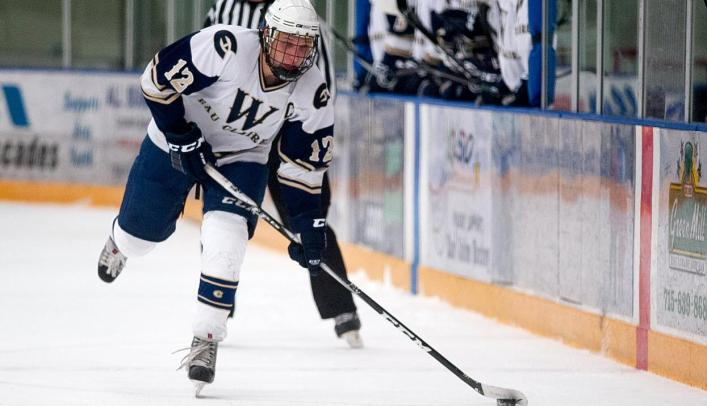 Men's Hockey Player Jordan Singer Named WIAC Scholar-Athlete