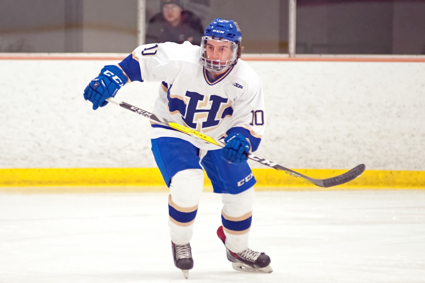 Rory Gagnon '19 scored the 12th goal of his Hamilton career against SUNY Canton (Michael P. Doherty photo)