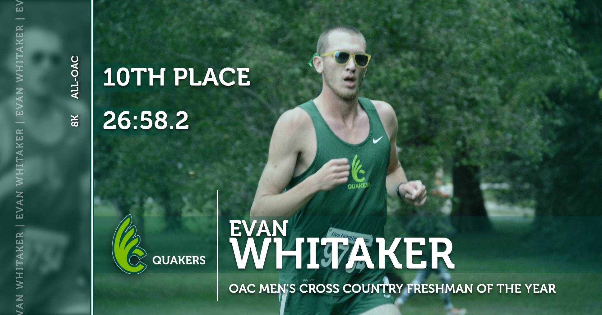 Evan Whitaker Named OAC Men's Cross Country Freshman of the Year