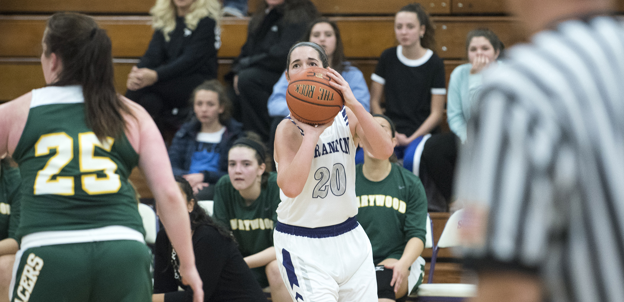 Senior Katie Broderick hit four 3-pointers in the third quarter as the Lady Royals pulled away to defeat Wheaton on Friday.