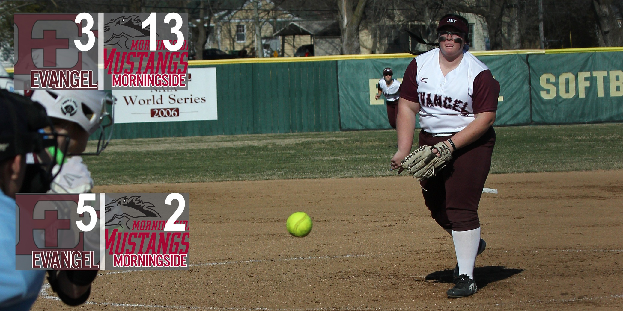 Softball Knocks off No. 9 Morningside in Double-Header Split