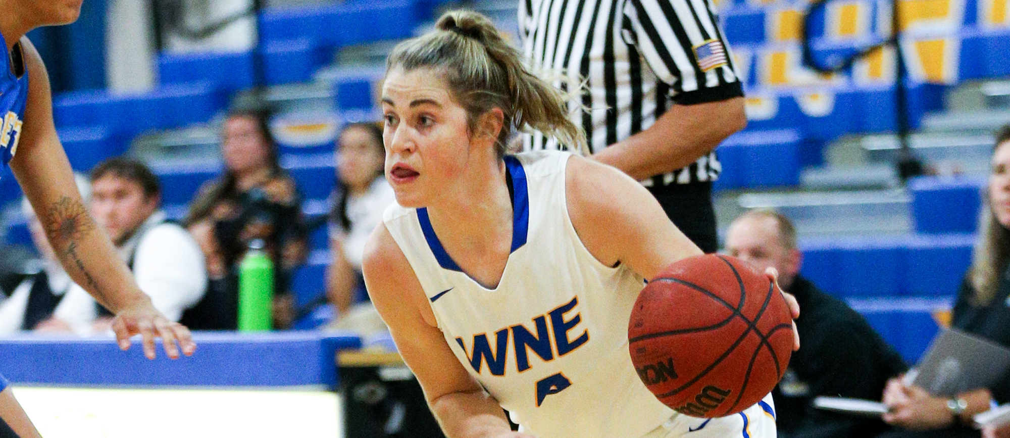 Lauren Chadwick scored ten points in Western New England's 56-47 loss to Endicott on Saturday. (Photo by Chris Marion)