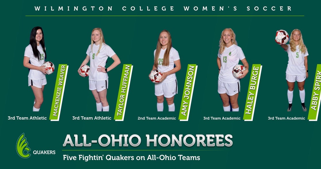 Women's Soccer Places Five on All-Ohio Teams