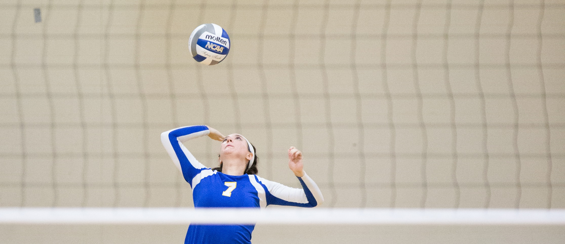Senior Brianna Roath totaled 35 digs during Western New England's tri-match at Wheaton on Saturday. (Photo by Chris Marion)