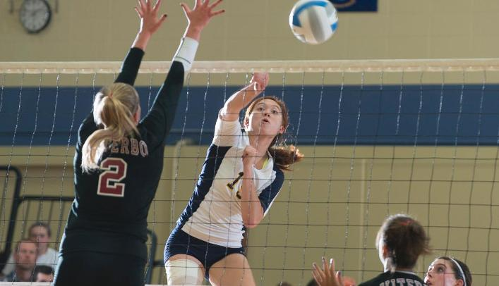 Volleyball Falls to Nationally-Ranked Pointers