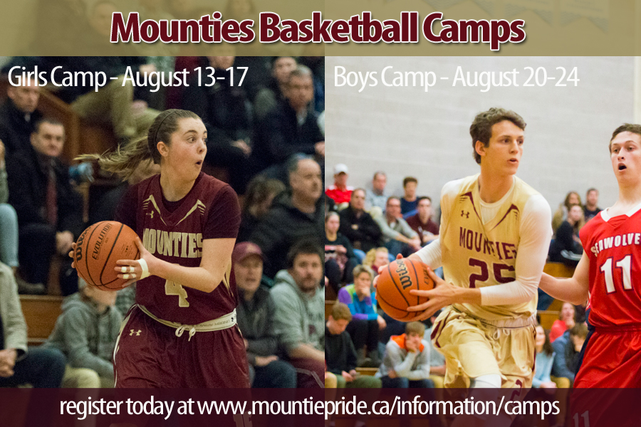 2018 Mounties Basketball Camps - Register Today!