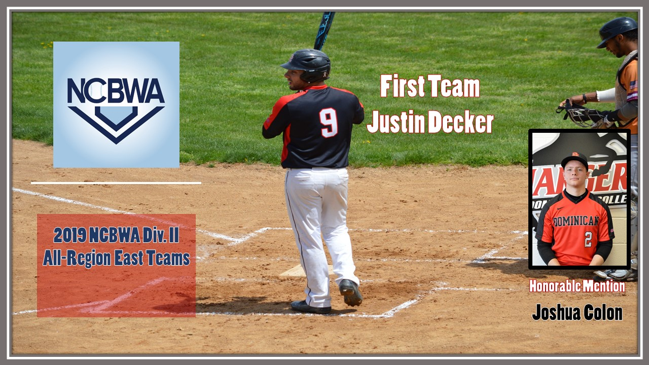 DECKER EARNS NCBWA EAST ALL-REGION HONORS; COLON RECEIVES HONORABLE MENTION ACCOLADES