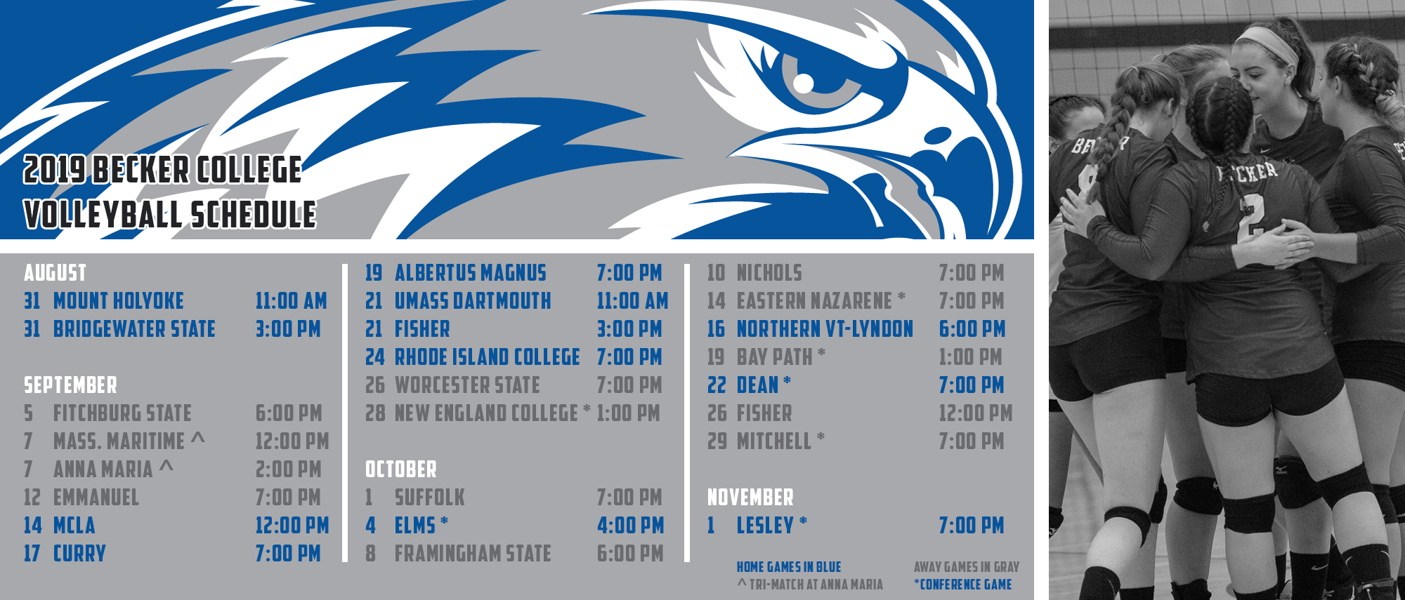 Women's Volleyball Schedule Announced