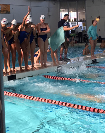 ARC women's swim team competed at the Sacramento Invite and had a successful meet with many best times.