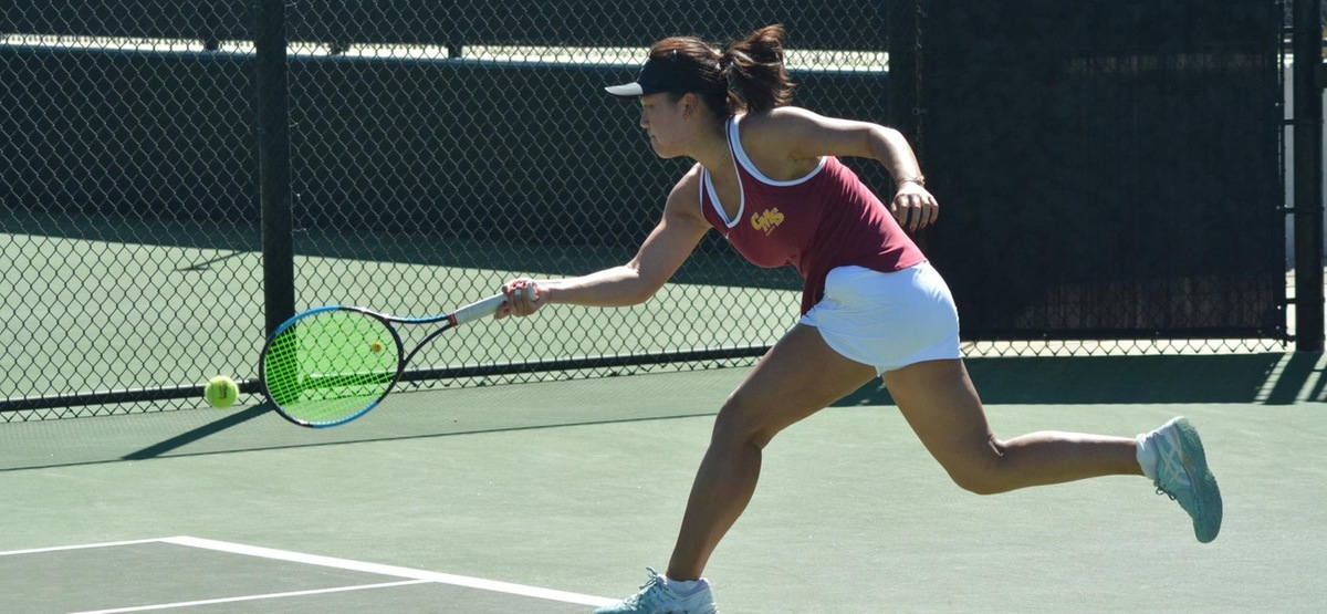 Freshman Crystal Juan took a 6-0, 6-0 win at No. 5 singles in her first SCIAC match