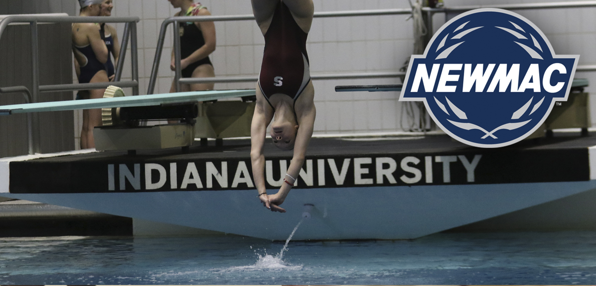 Skaza Chosen as NEWMAC Women's Diver of the Week