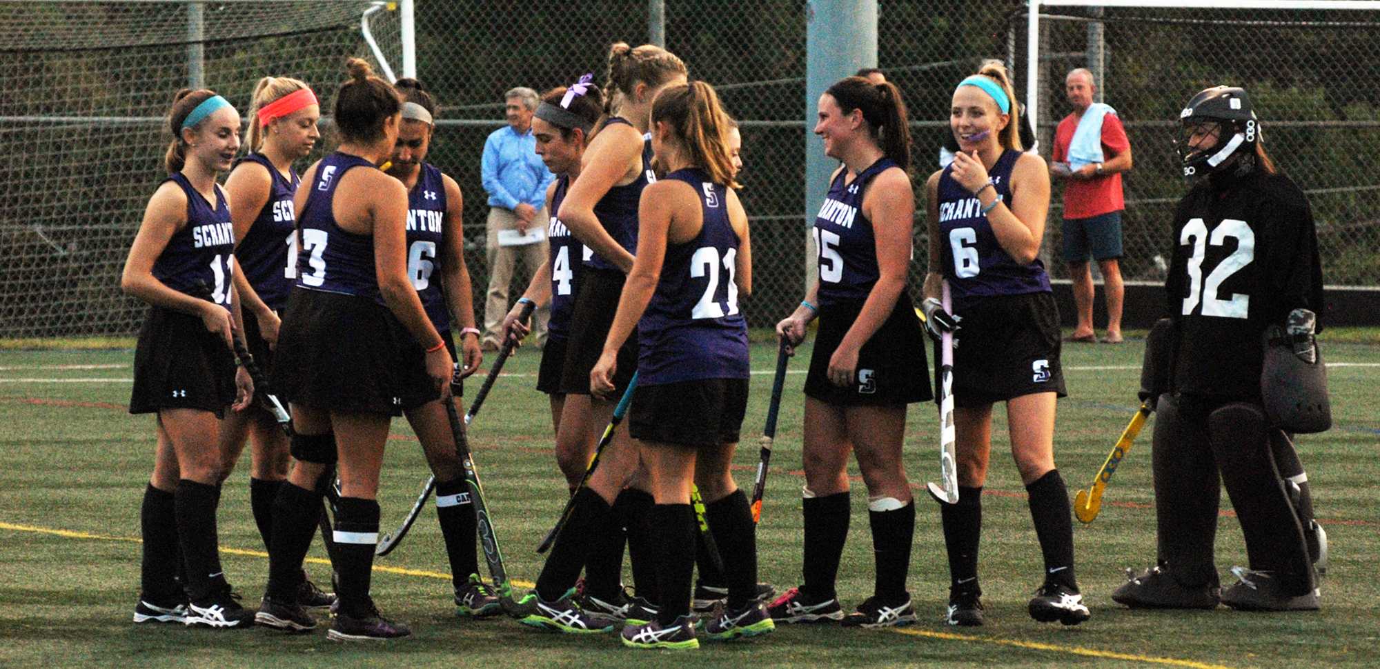 The second-seeded University of Scranton field hockey team will host their first home Landmark Conference playoff match on Wednesday night vs. Juniata.