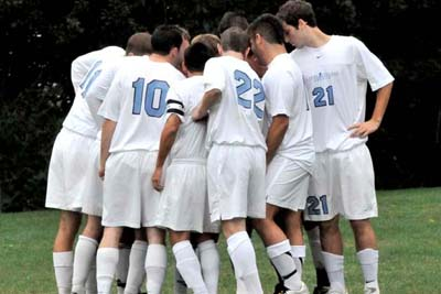 Saints Hold off Lasers in Men's Soccer Showdown