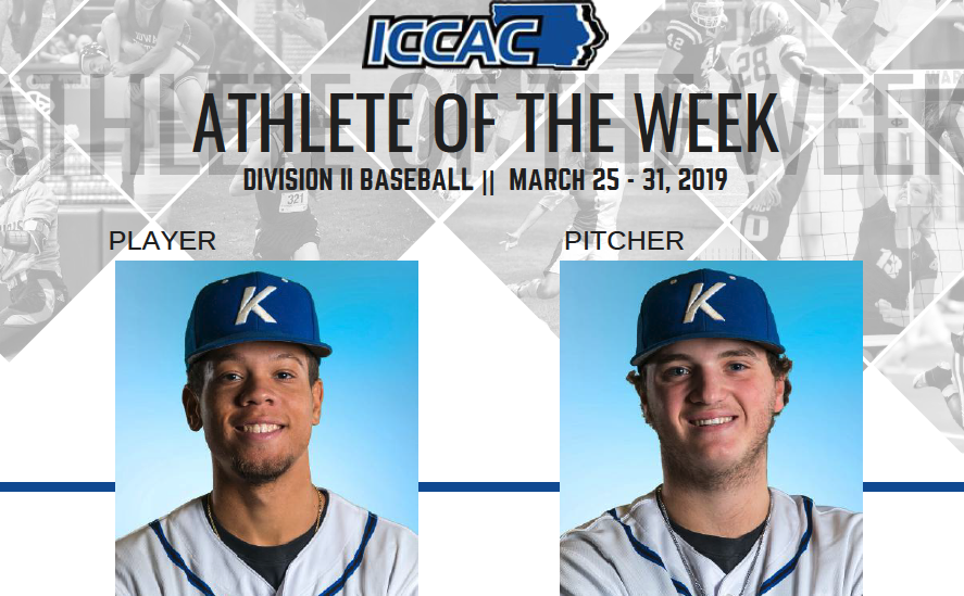 Pettigrew and Lawler named ICCAC Athlete of the Week | March 25-31