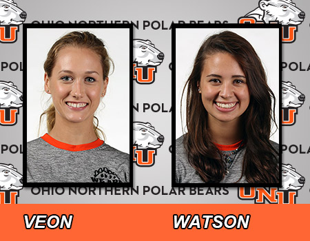 Veon, Watson lead Women's Swimming & Diving on first day of 2017 OAC Championships